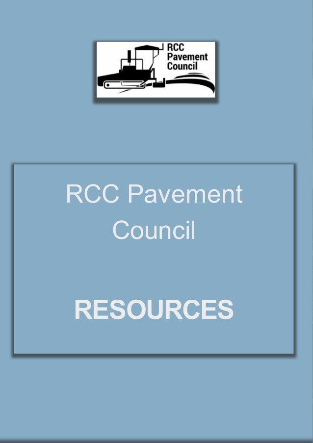 Rcc pavement council resources for Rcc home show