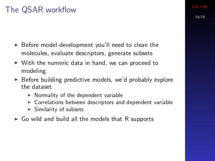 R & CDKThe QSAR workflow