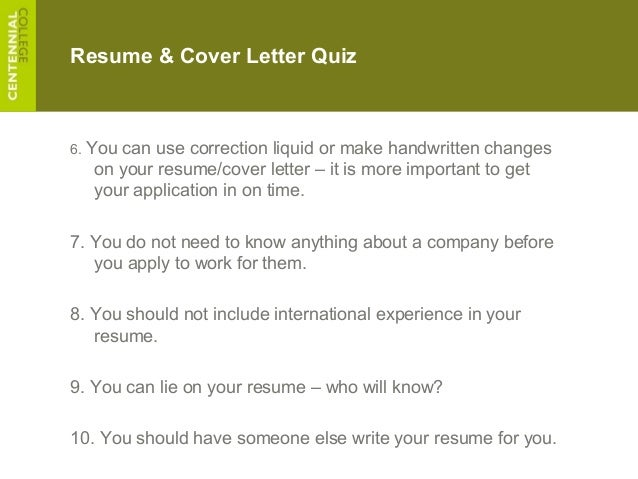 should you always include a cover letter - r c ece 2013