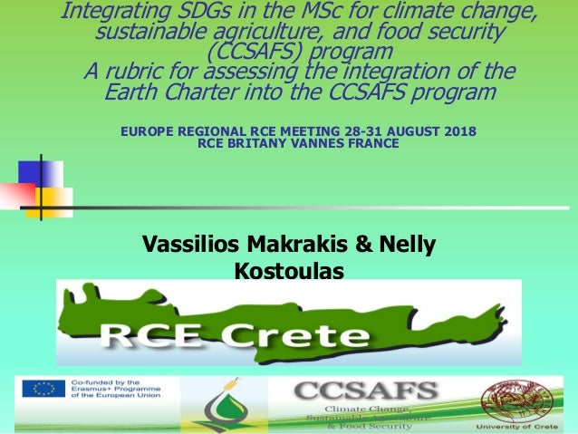 1 Integrating SDGs in the MSc for climate change, sustainable agriculture, and food security (CCSAFS) program A rubric for...