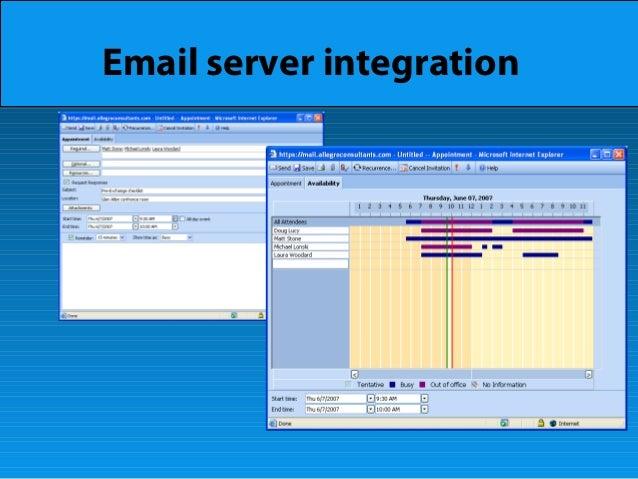 Email server integration