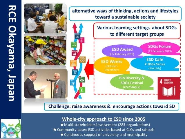 RCEOkayama,Japan Challenge: raise awareness & encourage actions toward SD Bio Diversity & SDGs Festival (22/23August) ESD ...