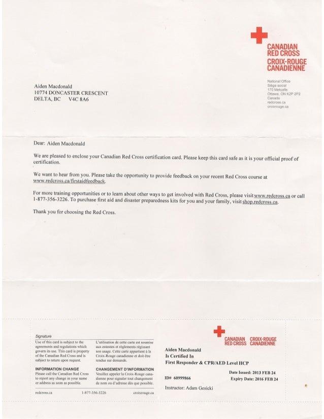 Red Cross Fr Certificate