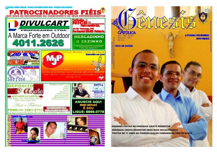 12 Revista Católica Gênesis - Produto Comunidade Hóstia Santa - Paróquia Cristo Redentor                                  ...