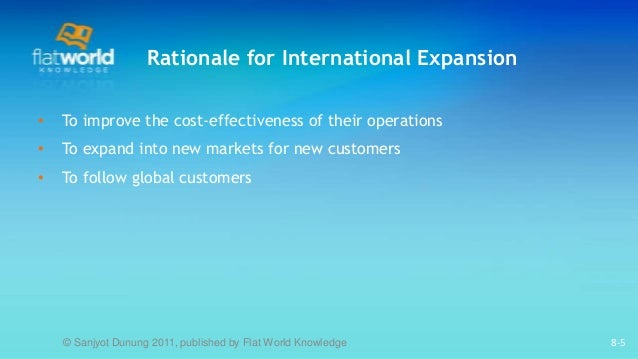 motivation for global expansion The human resource and the change of amazon's expansion strategy the development of internationalisation and globalisation has promoted the establishment of global market that provide an expansion opportunity for the firms at the same time, it also improves the competition among the markets in.