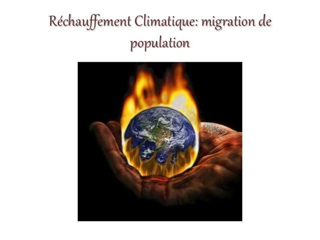 Réchauffement Climatique: migration de population