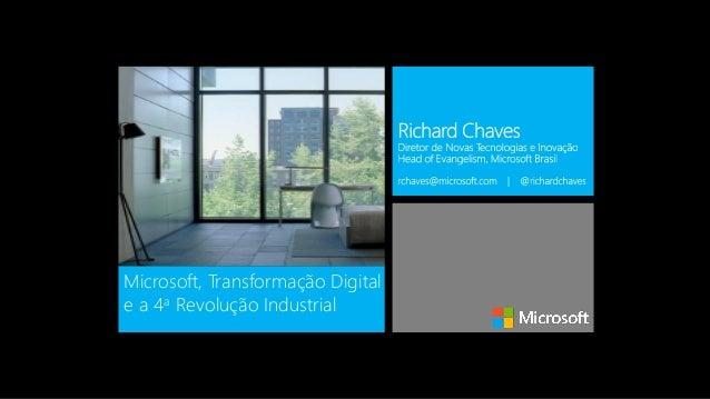 Microsoft, Transformação Digital e a 4a Revolução Industrial