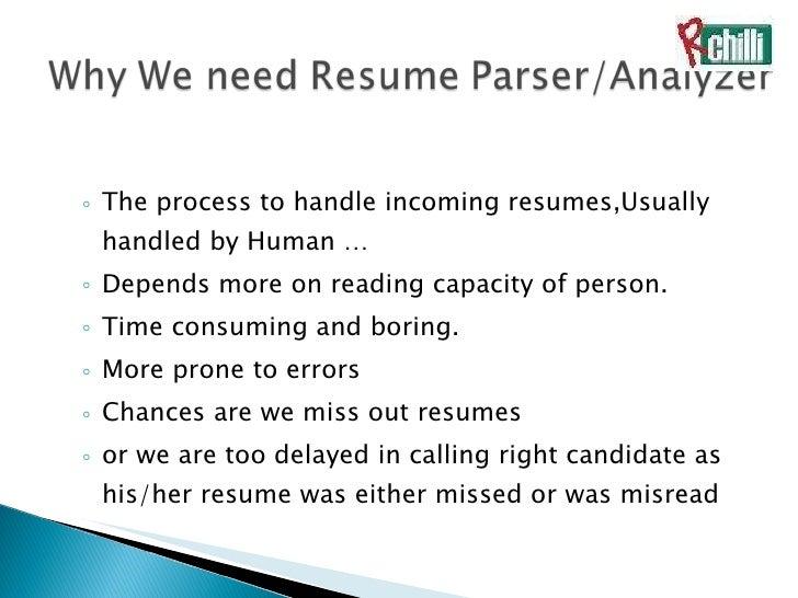 Resume Parsing  Cover Letter