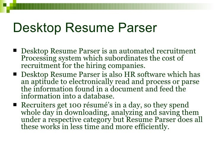 desktop resume management software