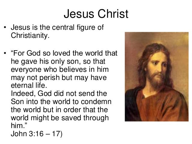 Image result for the god of christianity is jesus
