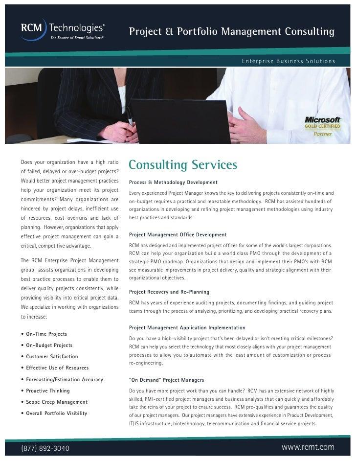 Project & Portfolio Management Consulting                                                                                 ...