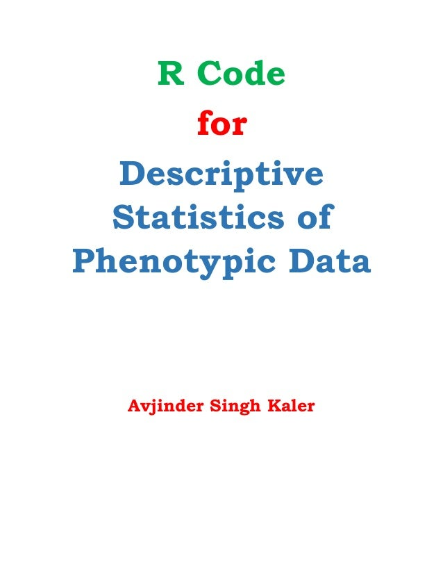 Report about descriptive statistics in r