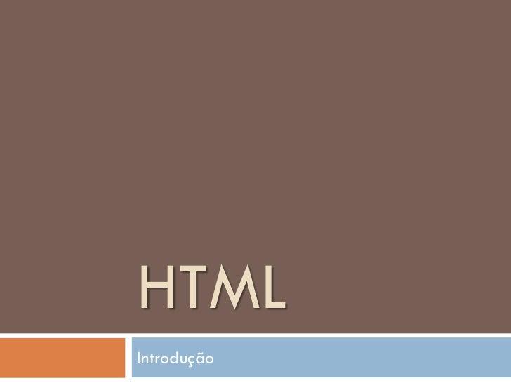 HTMLIntrodução