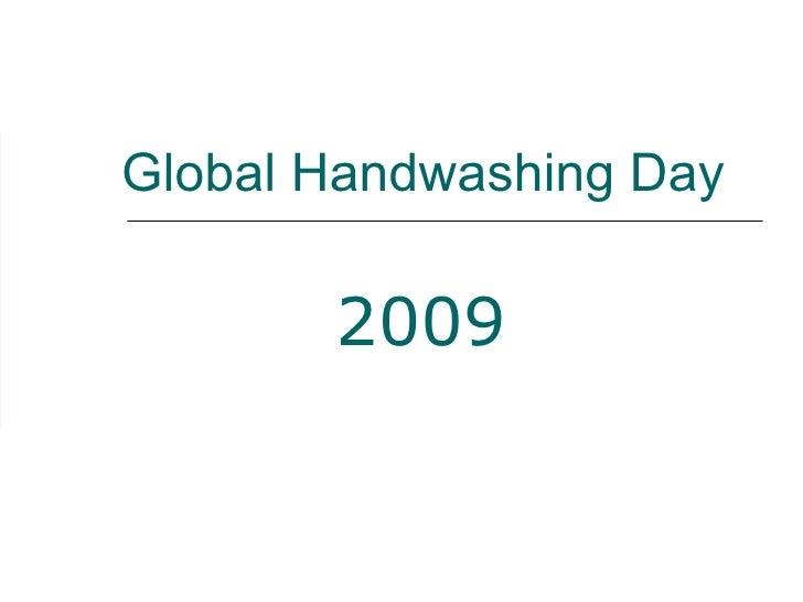 Global Handwashing Day 2009