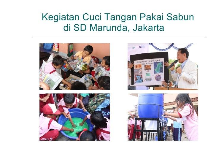 Kegiatan Cuci Tangan Pakai Sabun  di SD Marunda, Jakarta