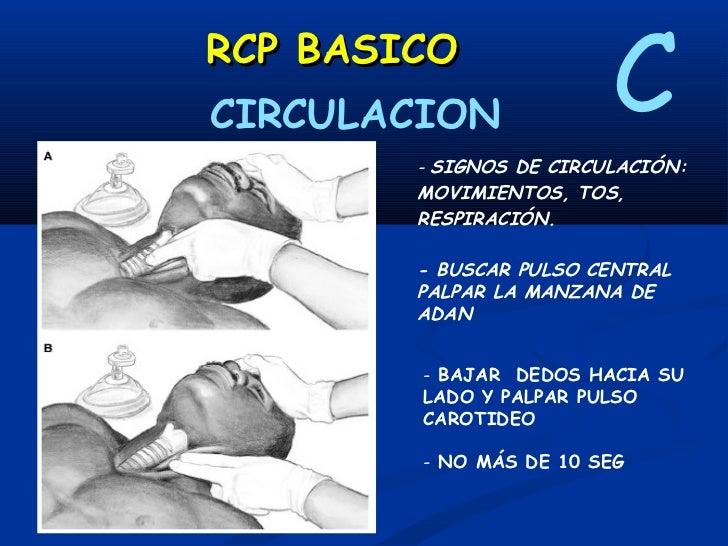 RCP BASICO       CIRCULACION                             CCOLOCAR PALMA DE MANO EN EL CENTRO DEL PECHO            LINEA IN...