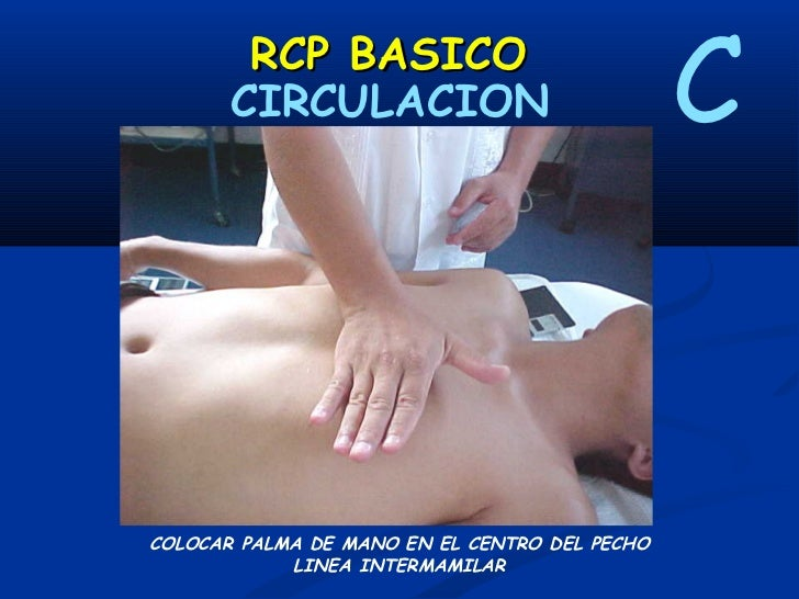 RCP BASICO          CIRCULACION                  CCOLOCAR AMBAS PALMAS UNIDAS SOBRE ESTERNON