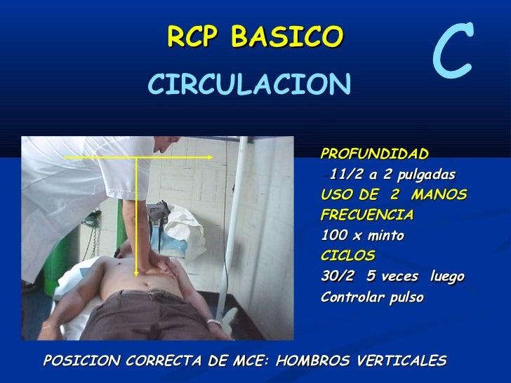 RCP BASICO        DESFIBRILACION                                         D            En FV/TV sin pulso- Monofásicos: adm...
