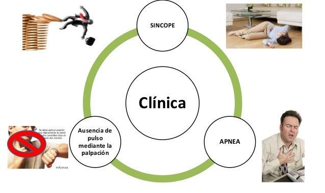 Clínica SINCOPE APNEA Ausencia de pulso mediante la palpación