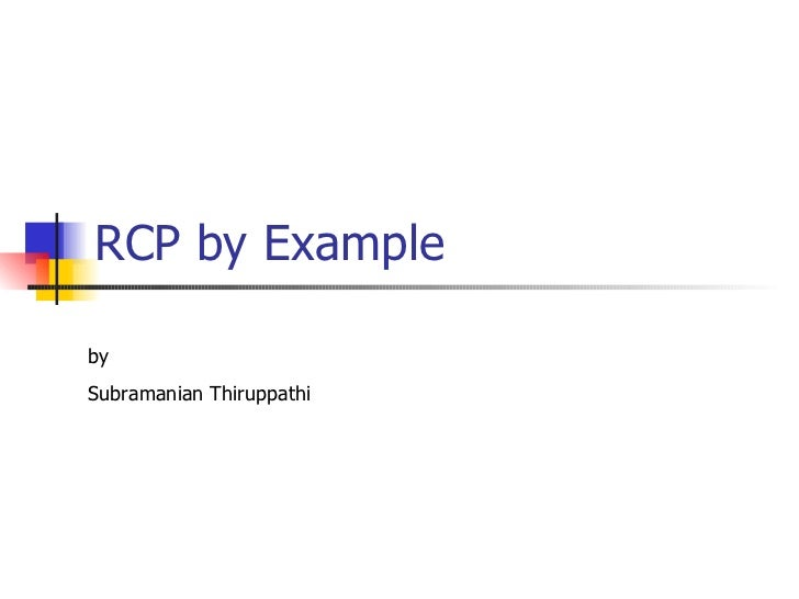 RCP by Example by  Subramanian Thiruppathi