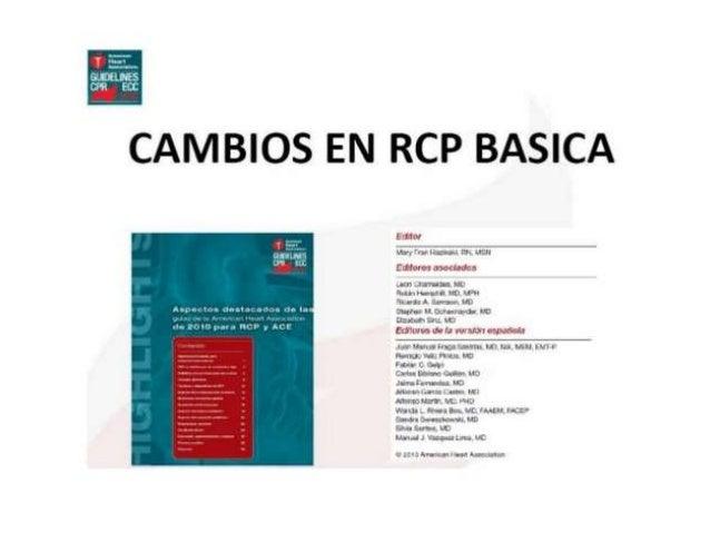 Reanimación Cardio pulmonar Pediátrico (RCP PEDIATRICO)  2015 Slide 3