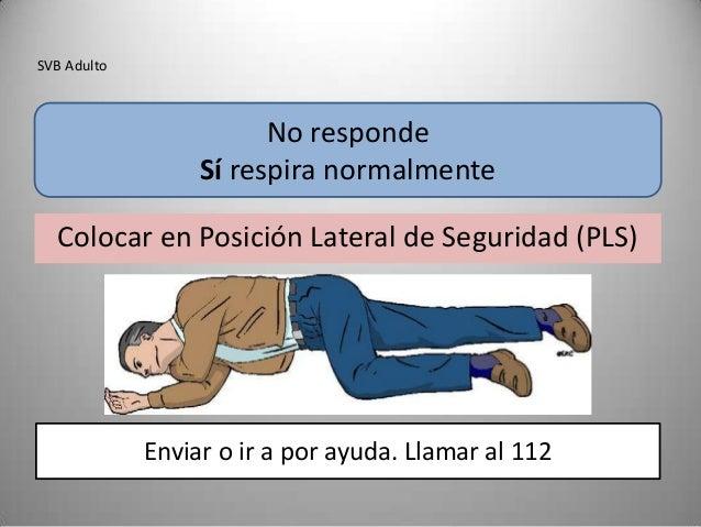SVB Adulto                        No responde                  Sí respira normalmente  Colocar en Posición Lateral de Segu...