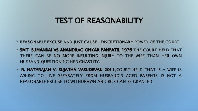 Restitution of Conjugal Right ppt