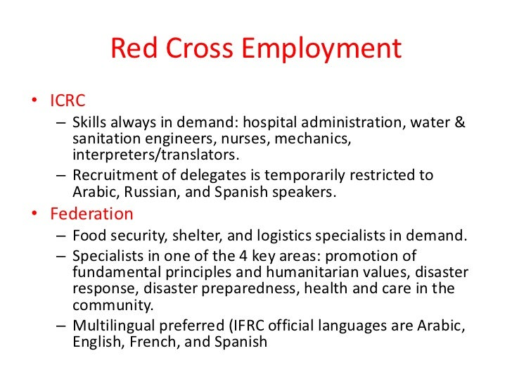international red cross and red crescent Disaster preparedness refers to for the international federation of red cross and the international federation of red cross and red crescent societies.