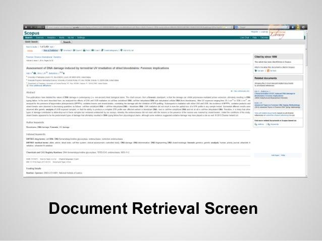 Document Retrieval Screen