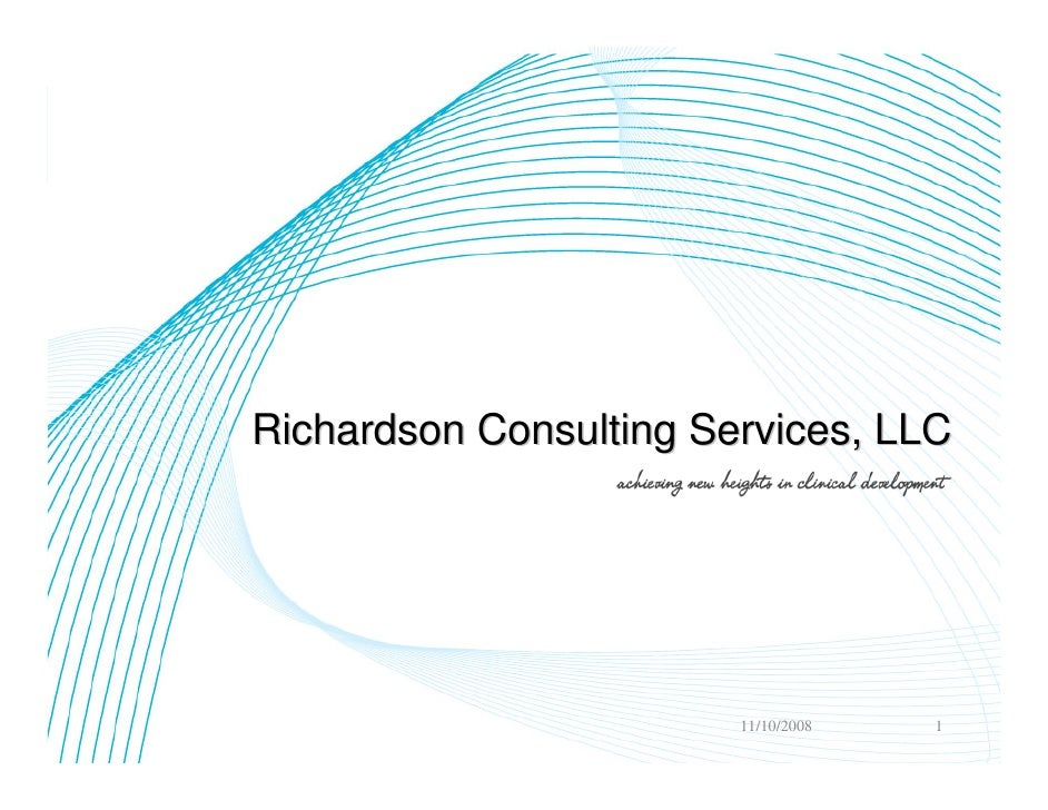 Richardson Consulting Services, LLC                             11/10/2008   1