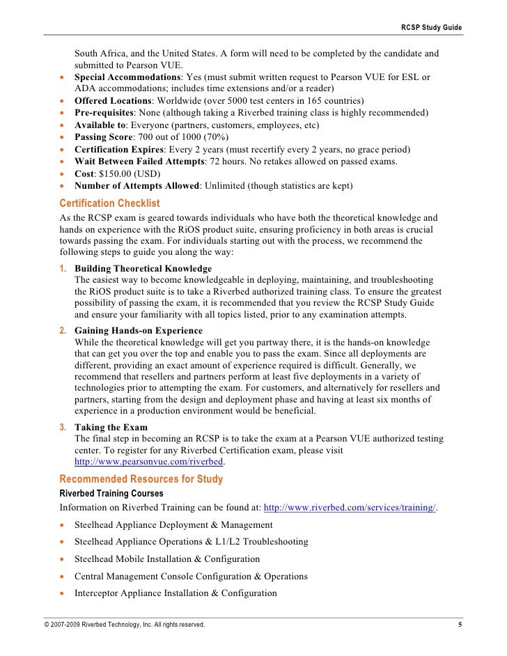 RCSP Study Guide             South Africa, and the United States. A form will need to be completed by the candidate and   ...