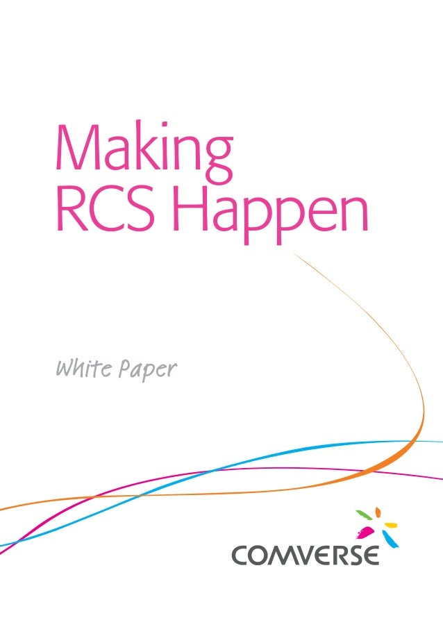 Making RCS Happen White Paper