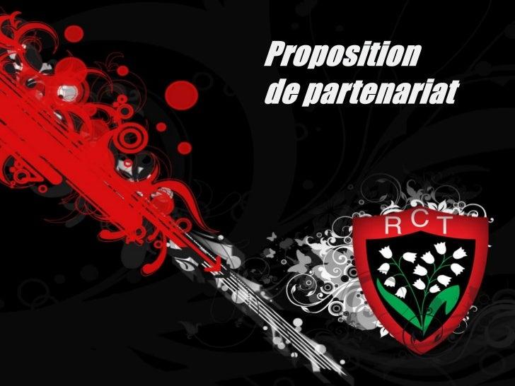 Proposition <br />de partenariat<br />