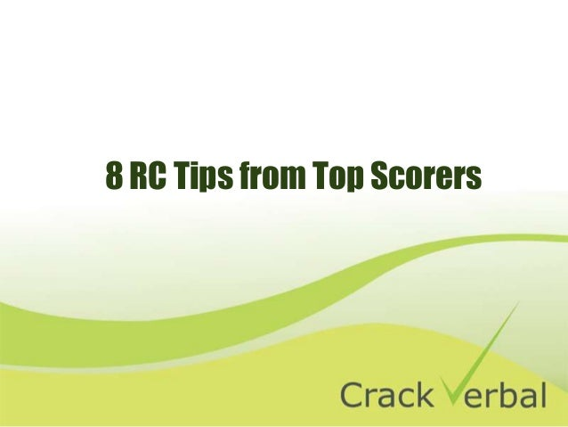 8 RC Tips from Top Scorers