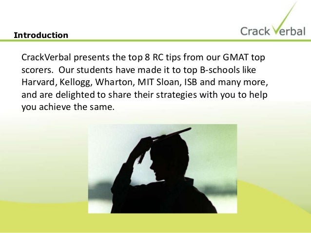 8 RC Tips from GMAT Top Scorers Slide 2