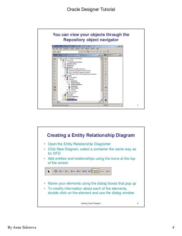 Oracle intro to designer abridged 4 oracle designer tutorial ccuart Images