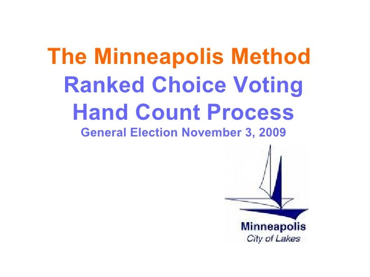 Ranked Choice Voting Hand Count