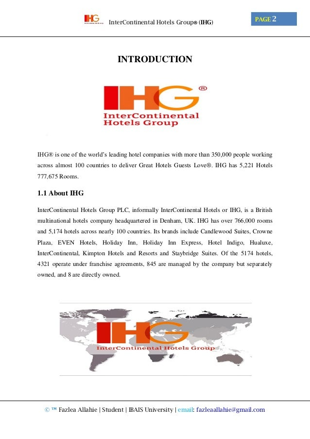 InterContinental Hotels Group® (IHG)