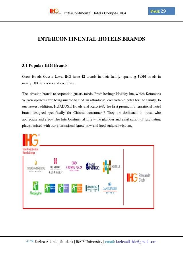 InterContinental Hotels Group® (IHG)