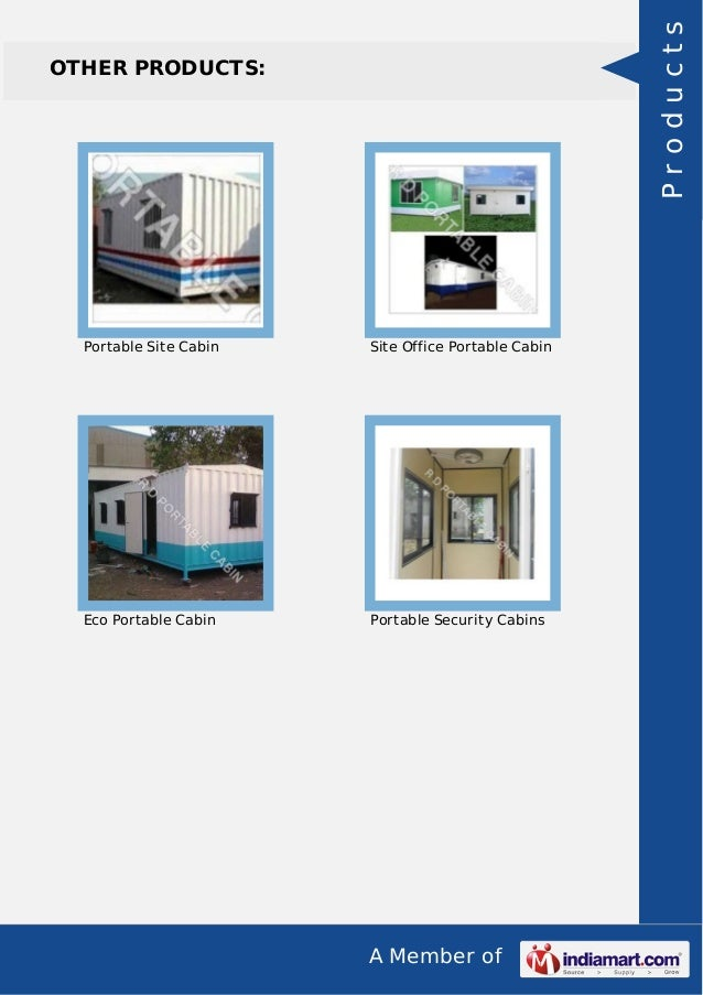 Prefabricated Portable Cabin By Rd Portable Cabin