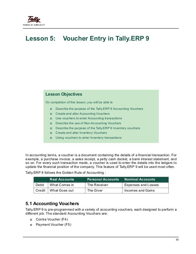 5 voucher entry 83 lesson 5 voucher entry in tallyp 9 in accounting terms altavistaventures Image collections