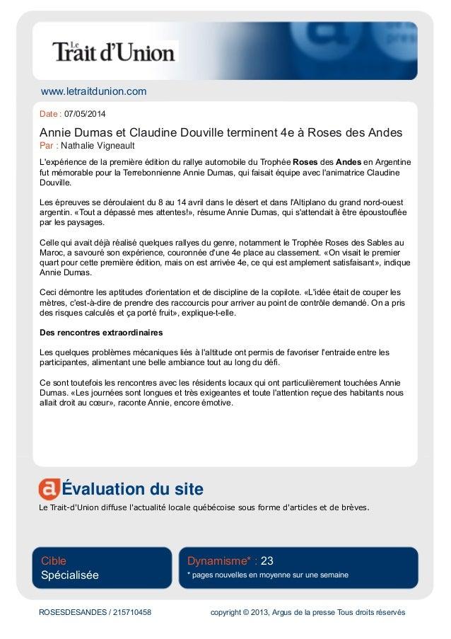 www.letraitdunion.com Évaluation du site Le Trait-d'Union diffuse l'actualité locale québécoise sous forme d'articles et d...