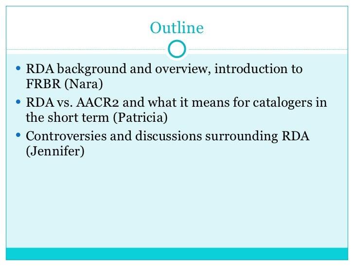 RDA (Resource Description & Access) Slide 2