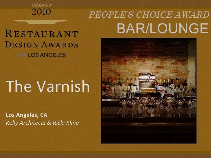 Restaurant design awards presentation final