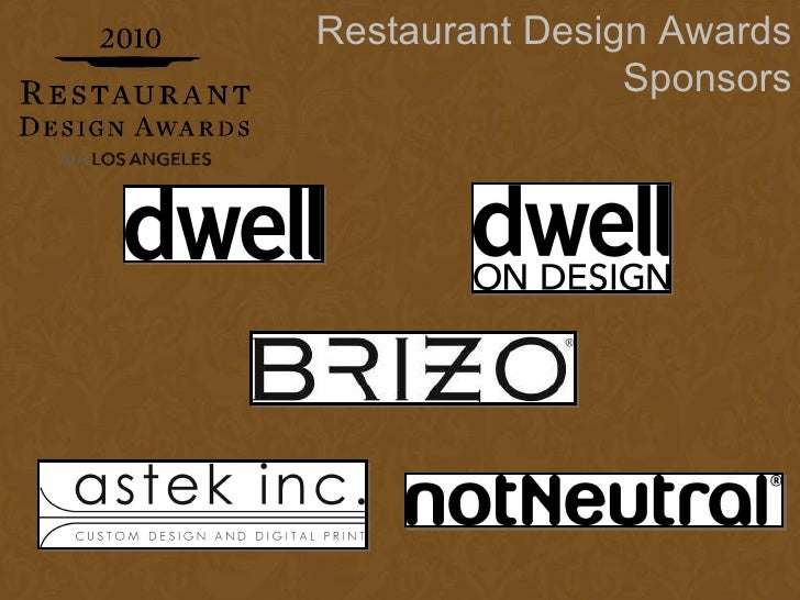 Restaurant design awards presentation final