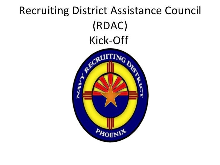 Recruiting District Assistance Council (RDAC) Kick-Off