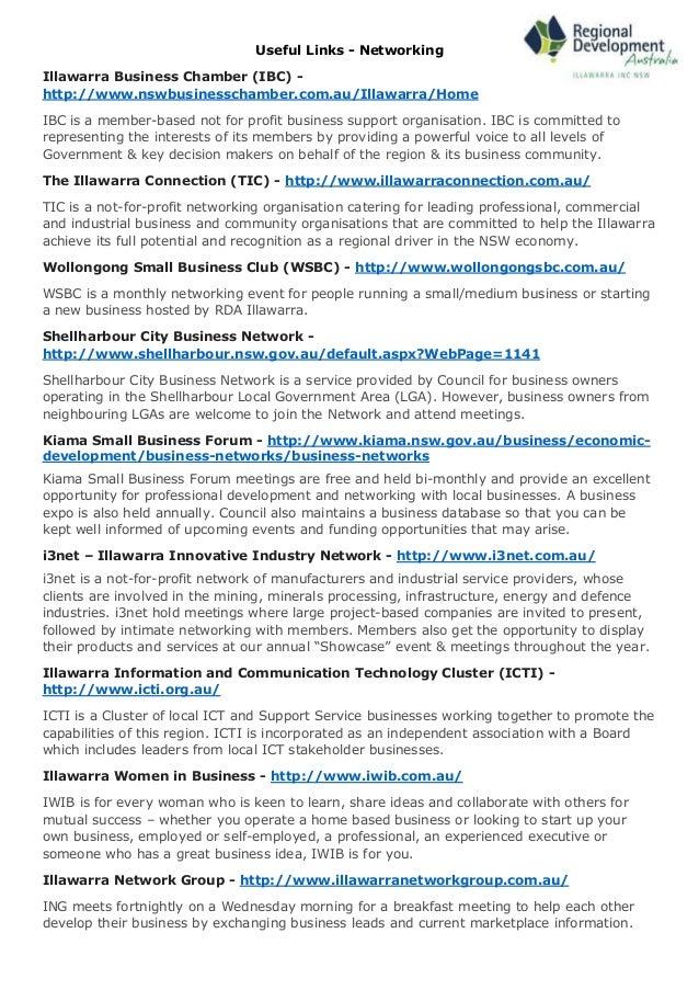RDA Illawarra Local Networking Directory