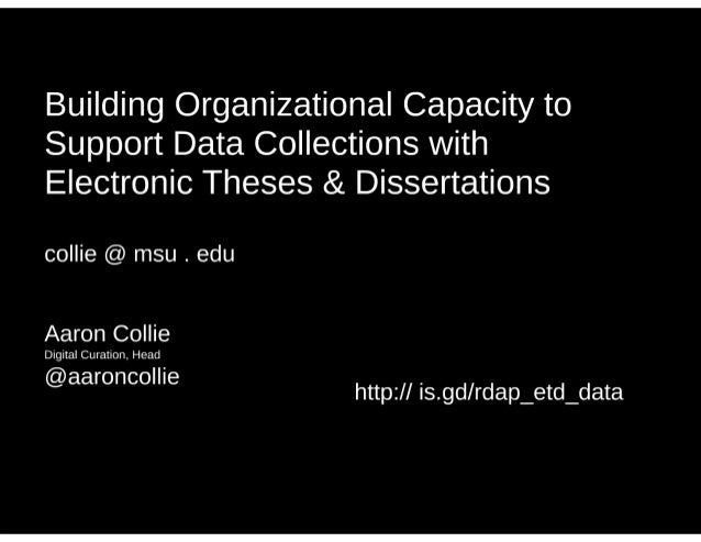 Electronic theses dissertation