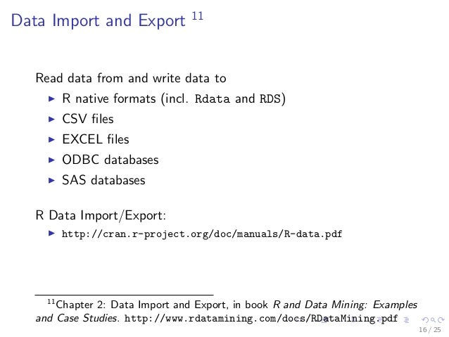 Introduction To Data Mining With R And Data Import Export In R