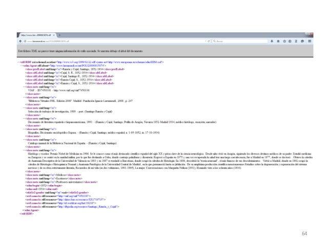 Taller de catalogación Linked Open Data y RDA: posibilidades y desafíos. Primera parte, de Xavier Agenjo Bullón y Francisc...